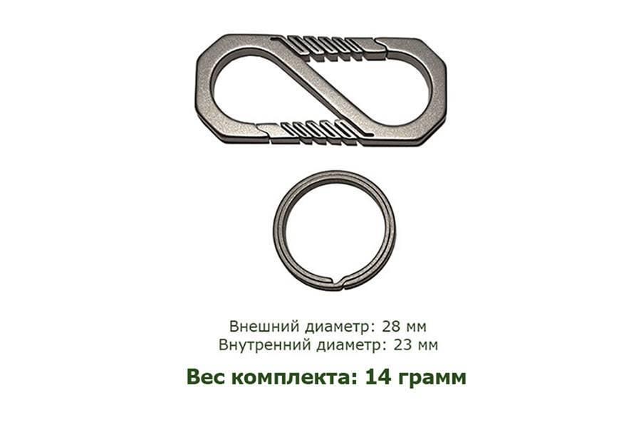 Карабин титановый с кольцом Round Ring
