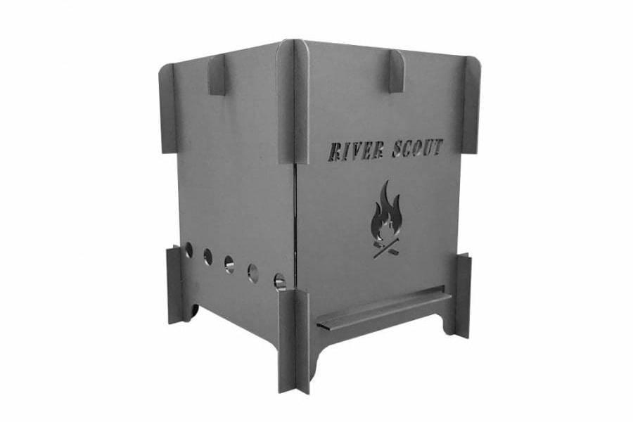 Титановая щепочница River Scout Quattro Light c мехами для раздувания огня