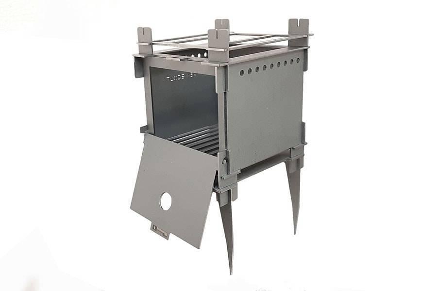 Титановая печь-щепочница River Scout Lunohod