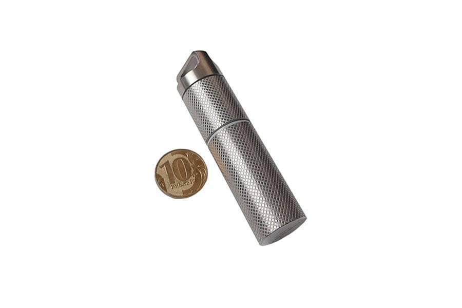 Брелок контейнер для таблеток из титана River Scout Rolling XL-Size