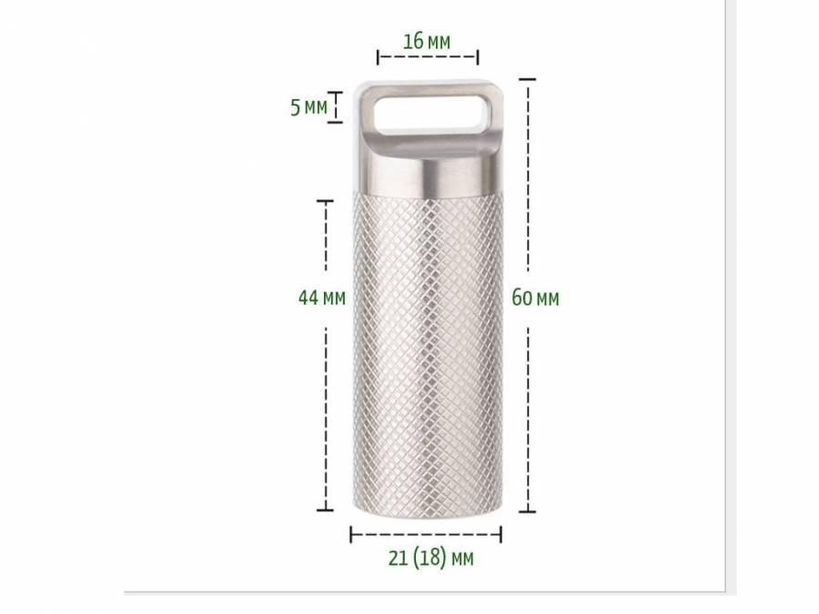 Брелок контейнер для таблеток из титана River Scout Rolling L-Size