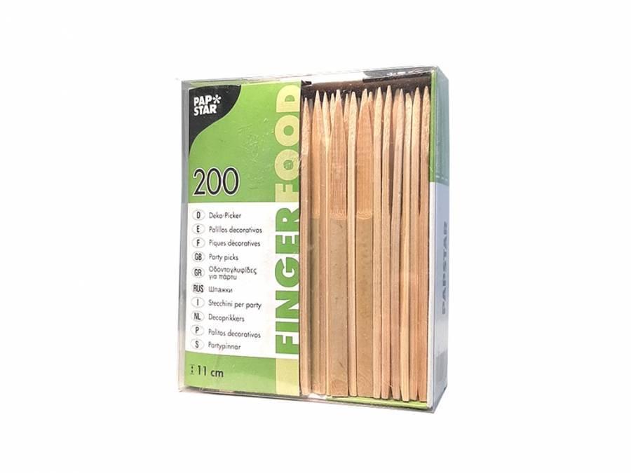 Шпажки из бамбука Papstar (плоские) 200 шт
