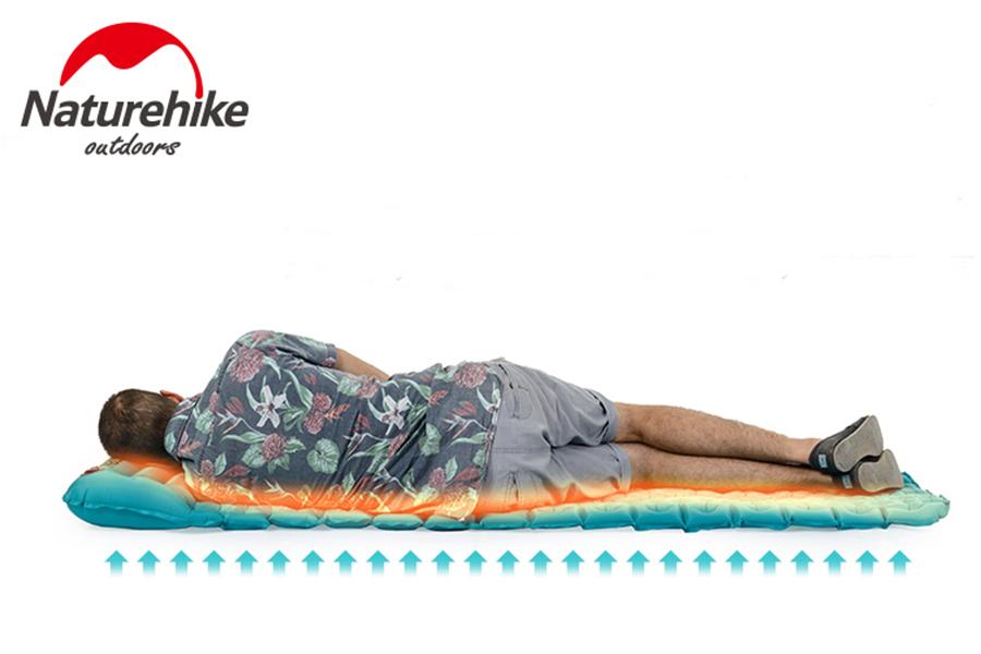 Туристический матрас с подушкой NatureHike NH17T024-T