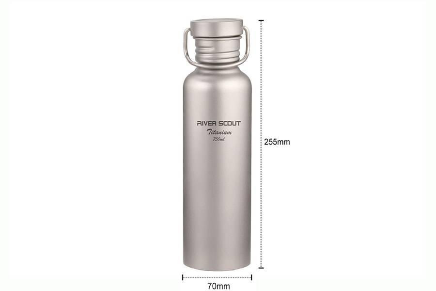 Титановая бутылка для воды River Scout TBT-075t, 750 мл