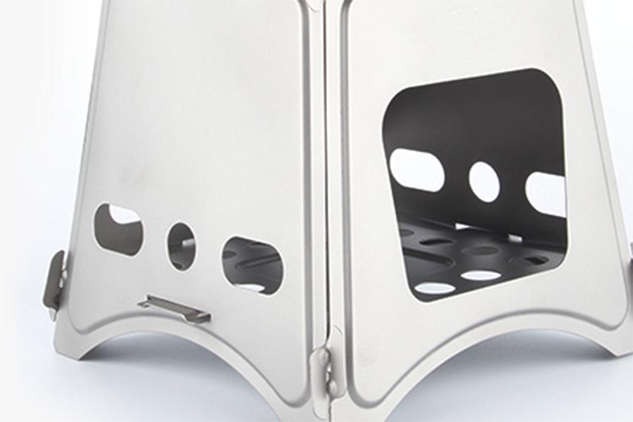 Титановая печь-щепочница, серия Люкс