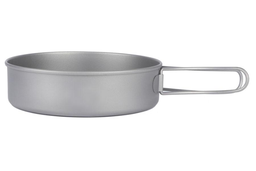 набор титановой посуды из 2-х предметов (сковорода и кастрюля)