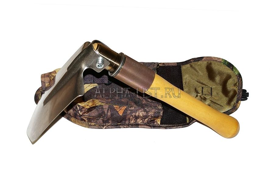 титановая малая пехотная лопата складная (в чехле)