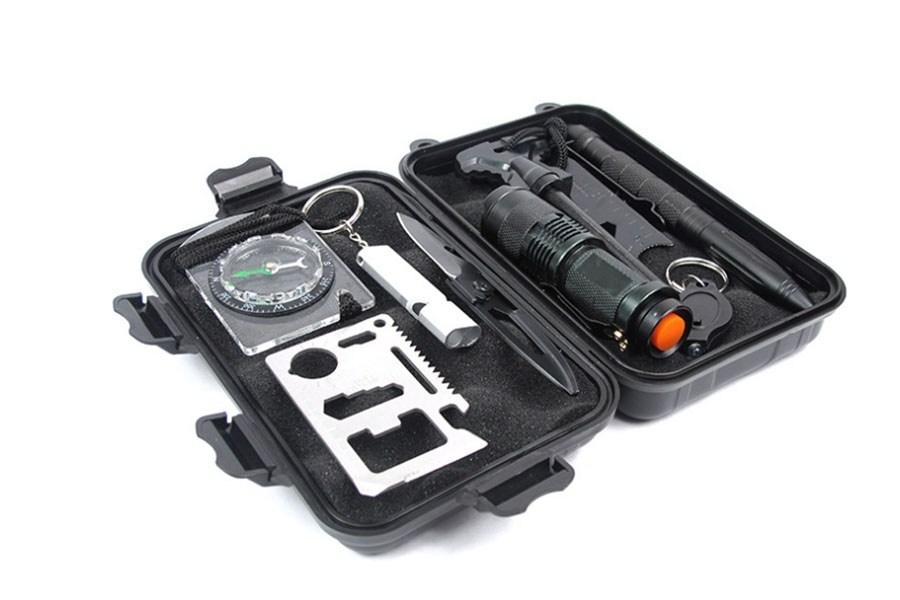 набор туриста / автомобилиста black skark (12 в 1) многофункциональные инструменты / ножи-мультитулы