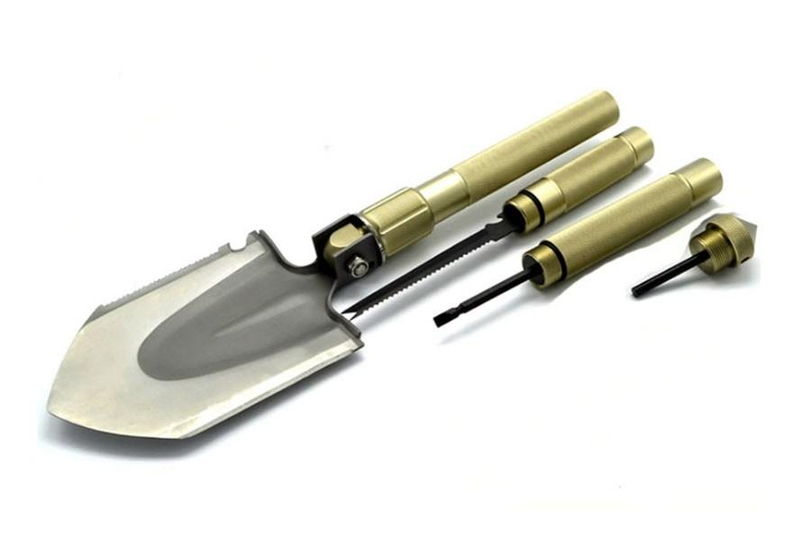 туристические лопаты - универсальная складная многофункциональная лопата mountain lion xl (10 в 1)