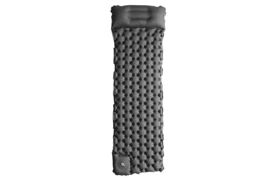 Туристический матрас (надувной) с подушкой и насосом FPBL-40D, черный
