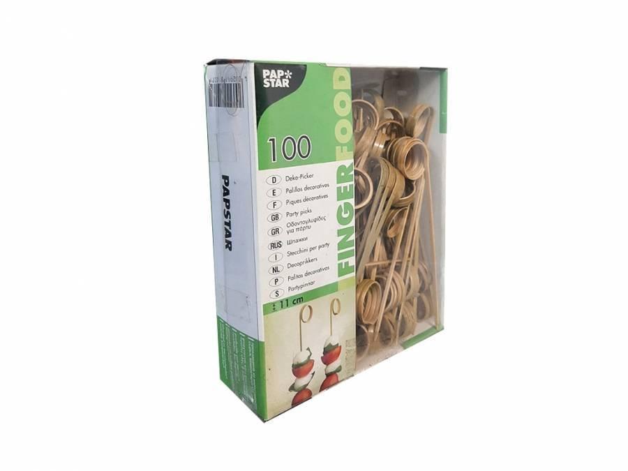 Шпажки из бамбука Papstar Twister (100 шт)