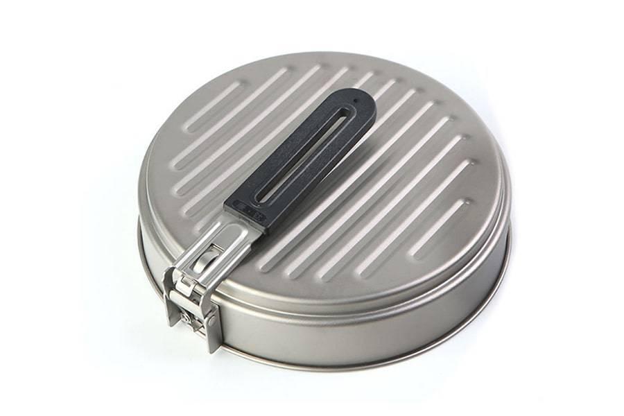 Титановая сковорода 1100 мл со складной ручкой