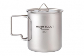 Титановая кружка River Scout TM-02t 420 мл с крышкой