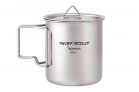 Титановая кружка River Scout 420 мл с крышкой