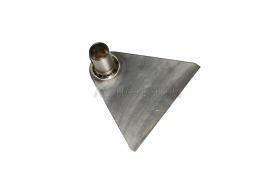 Титановая тяпка-мотыга 170х150 мм без черенка, серия Люкс