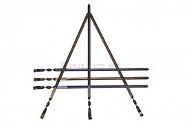подарочный набор шампуров из анодированного титана l=640 мм (6 шт.) титановые мангалы и подарочные наборы шампуров