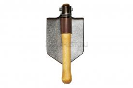 титановая малая пехотная лопата складная с титановой втулкой
