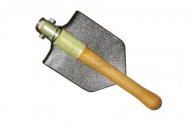 Титановая малая пехотная лопата складная с алюминиевой втулкой