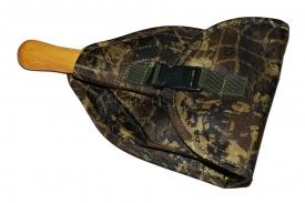 титановая автомобильная складная лопата с алюминиевой втулкой и деревянной рукоятью в чехле