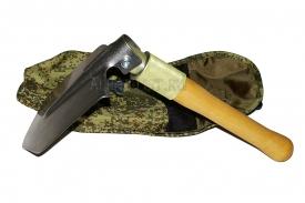 Титановая малая пехотная лопата складная с алюминиевой втулкой в чехле