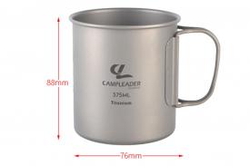 Титановая кружка CAMPLEADER 375 мл без крышки