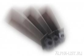 Титановая лопатка газотурбинного двигателя