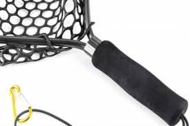 Подсак забродный (подсачек) из алюминия с силиконовой сеткой, обод черного цвета