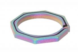 """титановое кольцо-брелок для ключей """"octagon"""" подарки и сувениры из титана"""