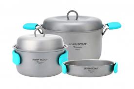 """Комплект титановой посуды для дома и кемпинга """"River Scout"""""""