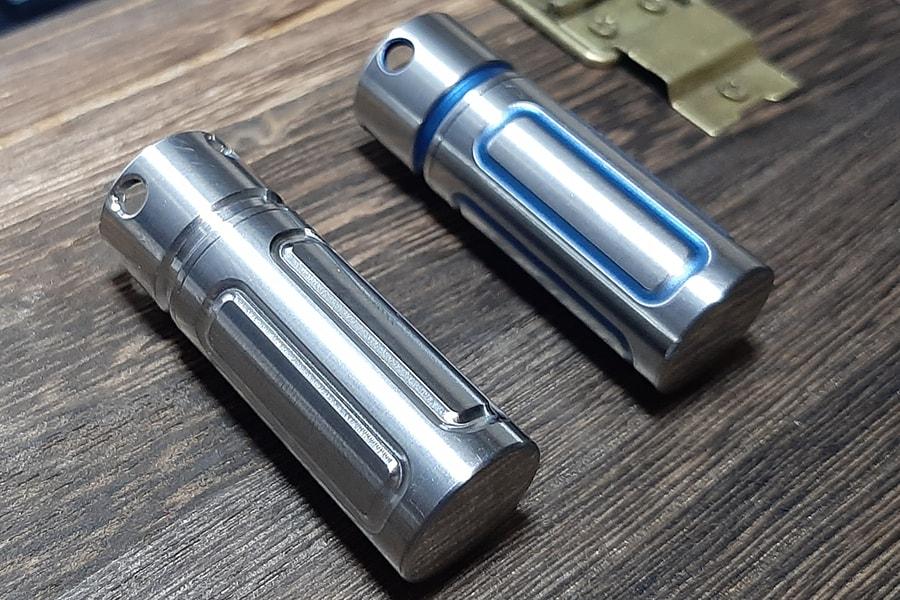 Титановая таблетница-брелок Ti-Line(S)