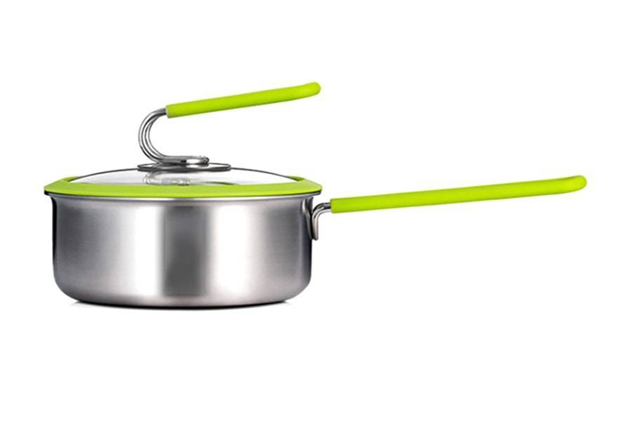 Титановая кастрюля (ковш) c ручкой Green