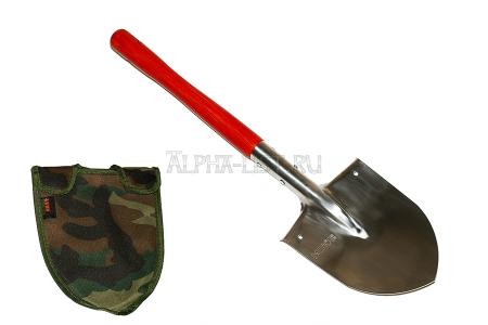 Пехотная штыковая лопата из нержавеющей стали в чехле