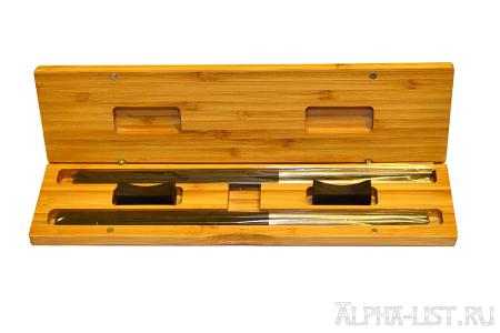 Титановые палочки для суши Panda LUX в подарочной упаковке на две персоны